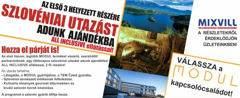 Modul ajándék szlovéniai utazás