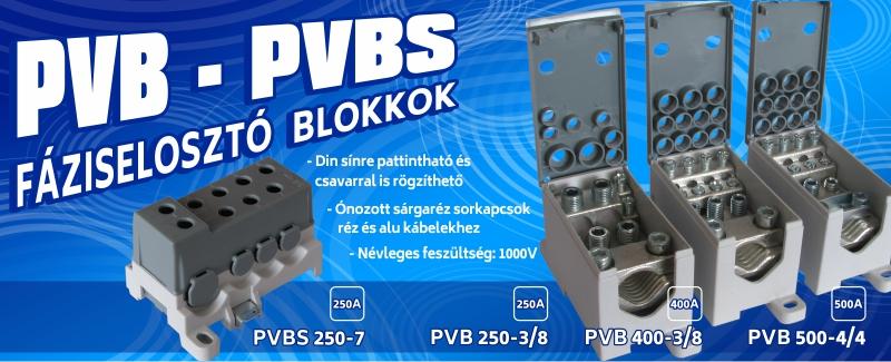PVB-PVBS csatlakozóblokkok