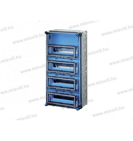 Hensel-MI71444-kismegszakito-szekreny-atlatszo-fedellel-48-modulos