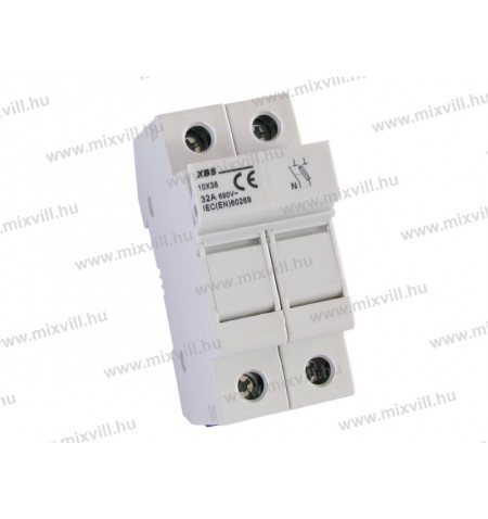 XBS-10x38-biztosito-aljzat-1P+N-Zart