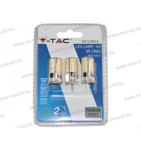VT-43128_G4_,3W_12V_meleg_feher_V-Tac