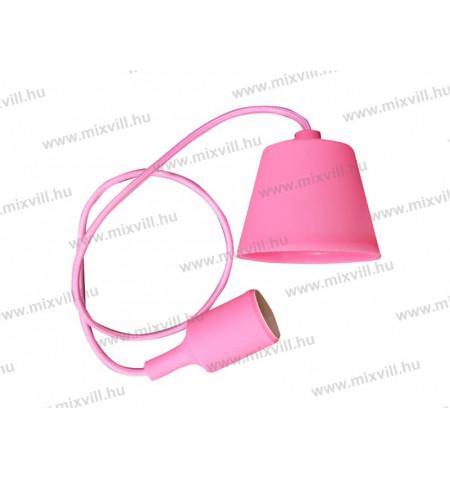 E27-foglalat_mennyezetrozsaval_pink_rozsaszin_VT-3479