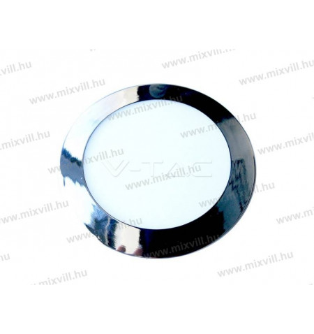 V-TAC_6340_Led_panel_kerek_Krom_12W_IP20_3000K_1000lm_240V