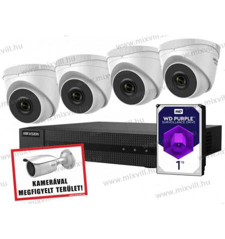 Hikvision-HiWatch-HISET4_Plu&play_biztonsági-kameraszett_kamerarendszer