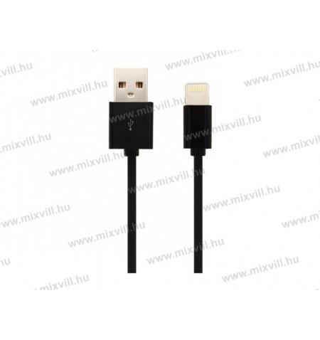V-tac_Sku-8452_iphone_USB_kabel_MFI_fekete