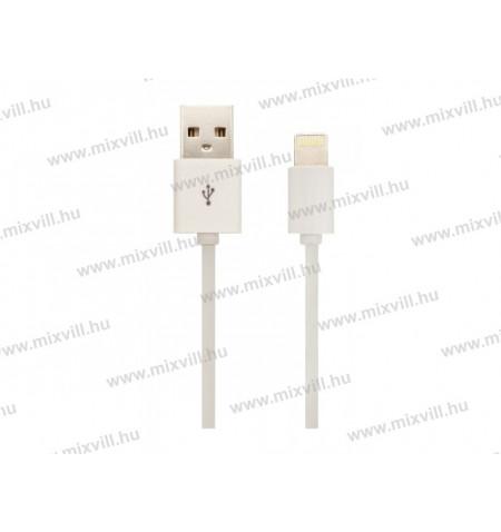 V-tac_Sku-8453_iphone_USB_kabel_MFI_feher