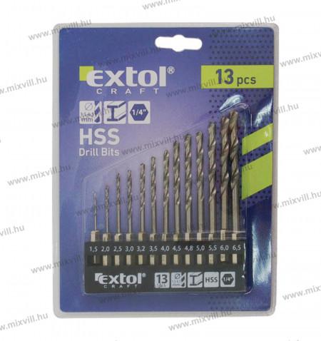 Extol_Femfuro_keszlet_13_darabos_HSS_1,5-6,5mm_1-4_BIT_befogas_11140