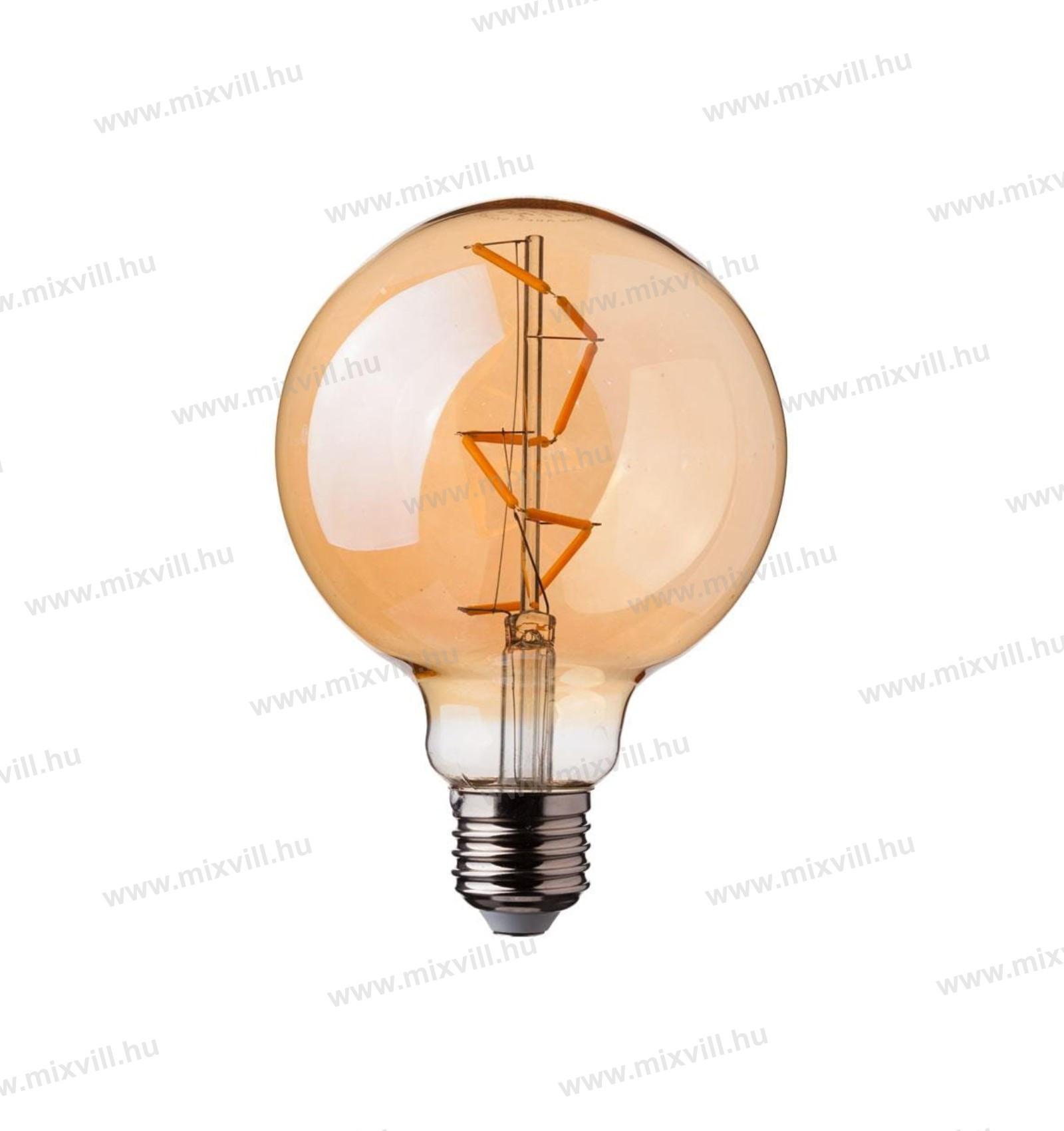 V-TAC-SKU-7146-COG-e27-LED-izzo-4w-G95-glob-Amber-Cover-2200K-meleg-feher