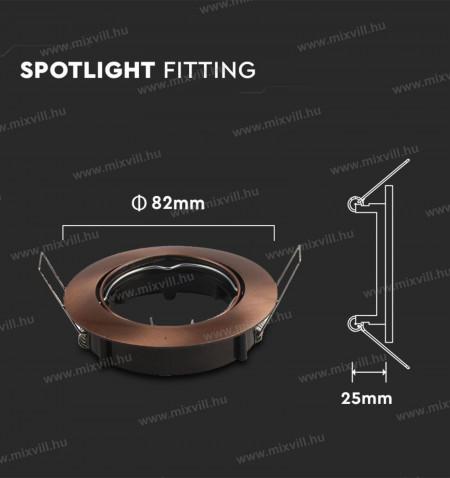 V-TAC-SKU-8580-SPOT-beepitheto-lampa-fix-keret-bronz-74mm-kivagas-kerek-