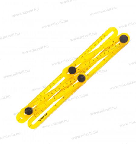 Muanyag-negyoldalu-vonalzo-szogmasoló-Hnady-11004_