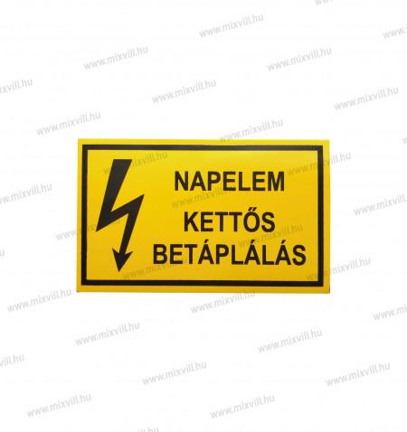 Matrica_Napelem_kettos_betaplalas_sarga