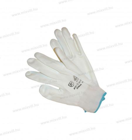 feher-kotott-nylon-kesztyu-M-meret-865101