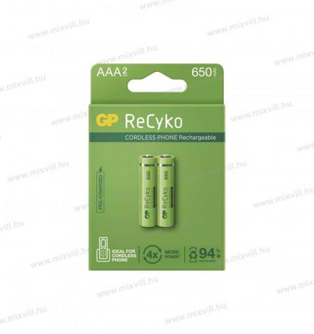 GP-RECYKO-AAA-HR03-akkumulátor-Cordles-Telefonokba-650mAh-B2416-telefonelem