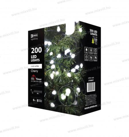 Led-Karacsonyi-fenyfuzer-Cherry-200-led-20m-hideg-feher-kulteri-golyo-led-emos-ZY0903T-