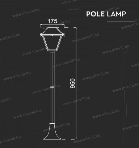 V-TAC-SKU-8687-kerti-allo-lampa-E27-foglalat-fekete-95cm-IP44
