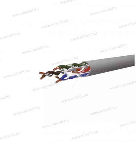 UTP-CAT6-4x2xAWG23-PVC-szurke-adatatviteli-vezetek-tömör-305m-emos-S9131