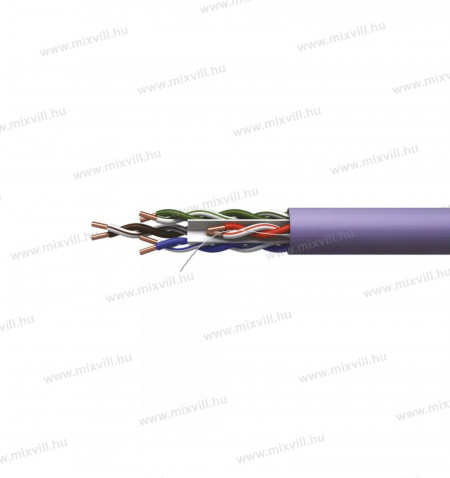UTP-CAT6-4x2xAWG23-lszh-PVC-lila-adatatviteli-vezetek-tömör-305m-emos-S9132