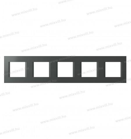 Modul-line-ol29at-5x2-modulos-antracit-diszitokeret-5-os-keret-kapcsolo-konektor