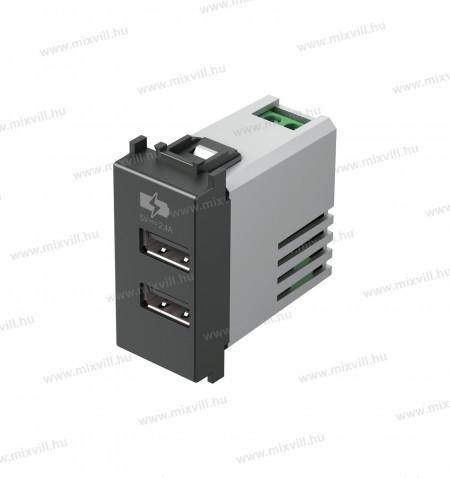 MODUL-1M-dupla-USB-tolto-aljzat-5V-2xport-antracit-EM67AT-38488