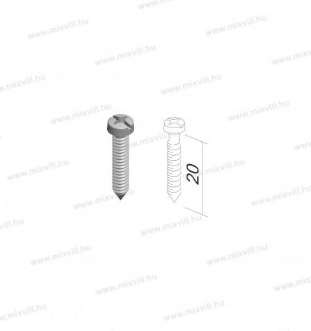 MODUL-CM17-csavarszett-szerelokeret-rogzites-100db-3,5x20mm