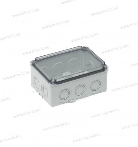 ELO-180-IP67-180x110x120mm-vizmentes-muanyag-doboz_falra_atlatszo-teto