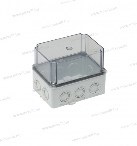ELO-180AM-IP67-180x110x120mm-vizmentes-muanyag-doboz_atlatszo-magas-teto