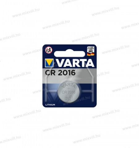 Varta-CR2016-lithium-gomb-elem-3V-fotoelem