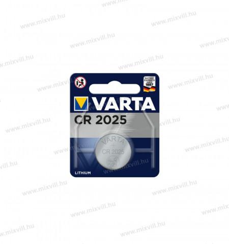 Varta-CR2025-lithium-gomb-elem-3V-fotoelem-szamologepelem