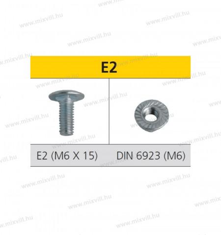 CELO-E2-lencsefeju-metrikus-talcacsavar-szogletes-nyak-resszel-DIN6923-anya