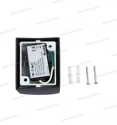sku-7508-v-tak-elegans-modern-fali-lampa-gu10-spot-foglalat-fekete-kulteri