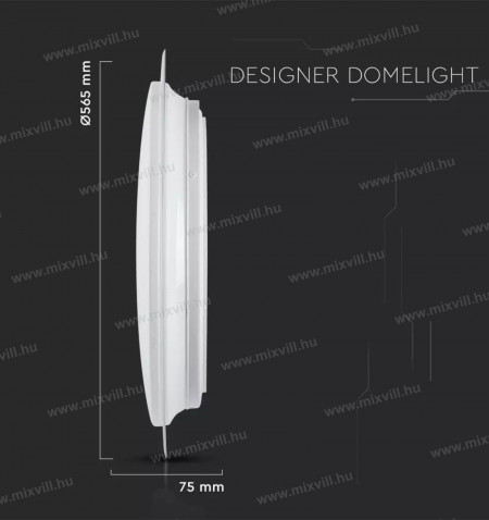 V-TAC-SKU-14551-Led-designer-mennyezeti-lampa-taviranyito-60W-IP20-meret
