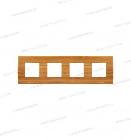 MODUL-PURE-fa-diszito-keret-kapcsolo-4x2modul-bambusz-OP28WB-27486-