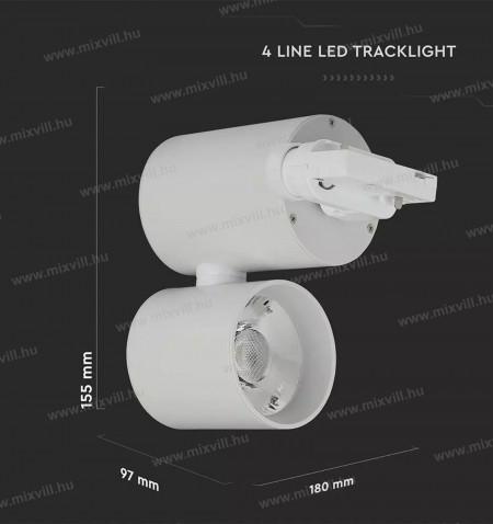 sku-1300_Led_Track_Light_Sines_Lampa_feher_15W_6400K-meret-v-tac