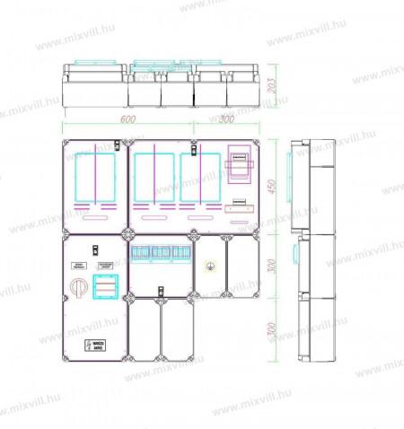PVT-a-V-Hv-Fm-CSF50-Egy-merohely-M63a80A-V32A-Hv32A-vezerelt-h-tarifas-meres-szabadvezetekes-felület