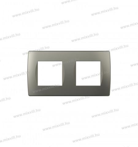 MODUL SOFT-diszitokeret-2x2M-TI-titanium-OS20TI-26500-kapcsolo-keret
