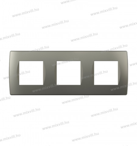 MODUL SOFT-diszitokeret-3x2M-TI-titanium-OS26TI-26501-kapcsolo-keret