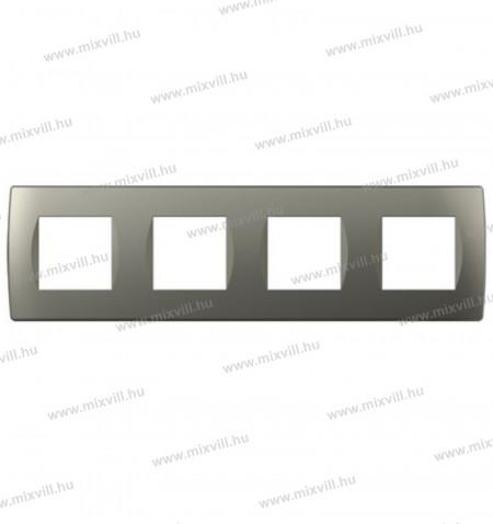MODUL SOFT-diszitokeret-4x2M-TI-titanium-OS28TI-26502-kapcsolo-keret